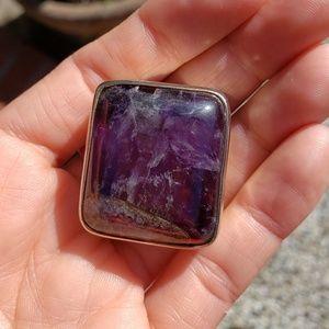 Jewelry - Amethyst vintage estate sale slider sterling silve